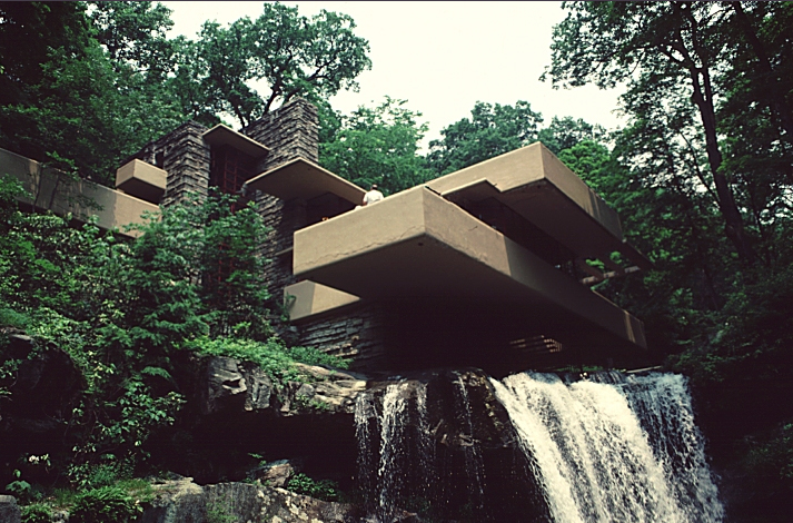 The Cantilever Princip... Frank Lloyd Wright Falling Water Lego
